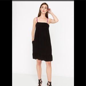 NWT Buffalo Black dress with tasselstraps Adorable